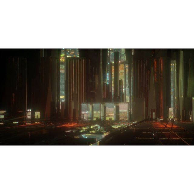 Atari City 🕹🌃 Road to my cyberpunk fantasy; Androids do dream of electric sheep, full speed ahead! . . . . . #worldbuilding #design #cyberpunk #fantasy #atari #citylights #bladerunnervibes  #futuristicarchitecture #artistsoninstagram