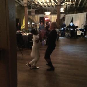 Dana's mom, Karen, dancing with the guests!