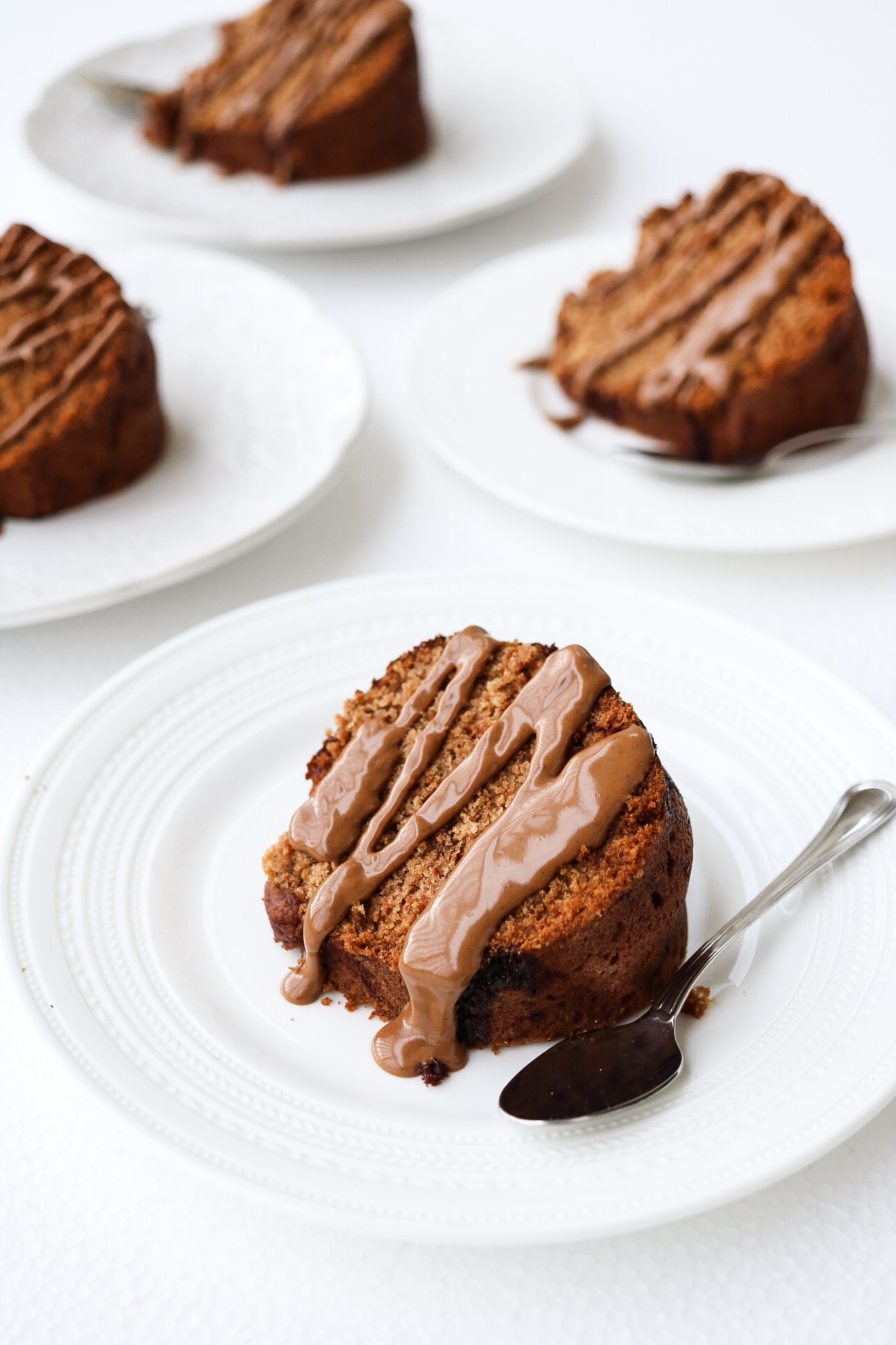 Cinnamon Swirl Bundt Cake - CAKE:4 cups all purpose flour2 tsp baking soda2 tsp baking powder1 tsp salt1 cup neutral oil1 1/2 cup coconut sugar1 1/2 cup + 6 Tbsp water1 tsp cinnamonCINNAMON SWIRL:1/4 cup coconut sugar1 Tbsp cinnamonDIRECTIONS:Preheat your oven to 350*F. In a large bowl, whisk together your flour, baking soda, baking powder, salt, cinnamon, and set aside. In a smaller bowl, combine your oil, sugar, and water. Add your wet ingredients to your dry, and mix until fully incorporated, but don't over-mix the batter. In a tiny bowl, combine your cinnamon swirl mix of sugar and cinnamon. Add in about half of your batter to your bundt cake pan, and sprinkle the batter with Half of the cinnamon swirl mix. Then, pour in the rest of the batter, topping it off with the remaining cinnamon swirl mix. Bake your cake for around 45-50 minutes, and cook more or less as needed. Then just let it cool, and enjoy the goodness.