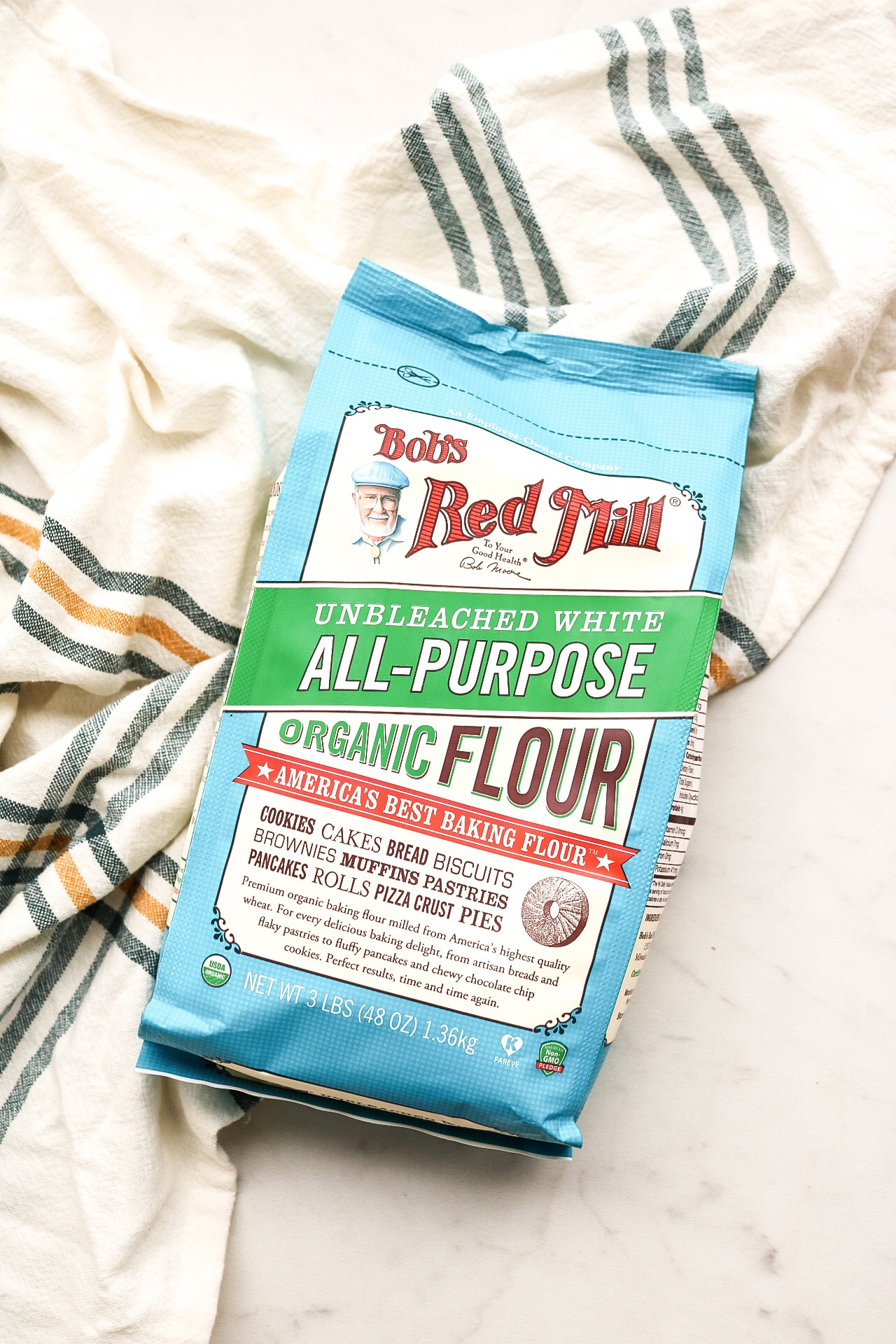 The organic flour that I used! Such a great size and makes all of your baked goods organic :)