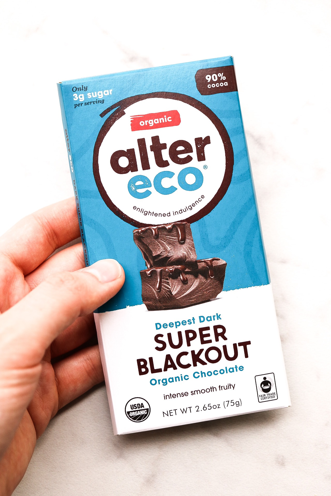 I used Alter Eco 90% dark chocolate in the pudding filling - it made it that much more chocolatey and smooth.