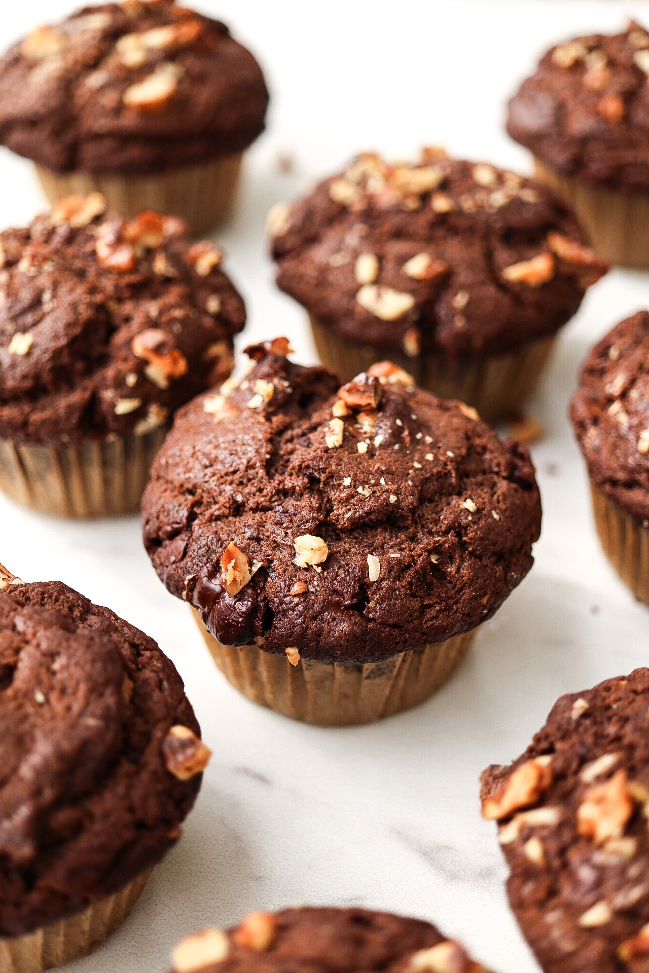 What I love about these muffins is that they have a crunchy muffin top - just the way a true coffee shop muffin should!