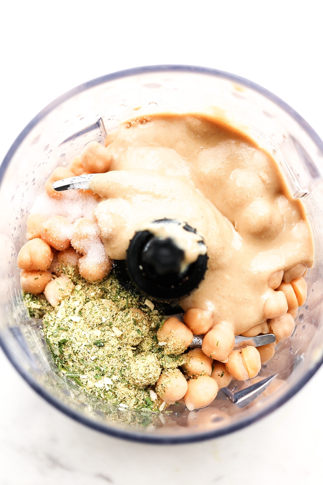 Just place all of your ingredients in the food processor!