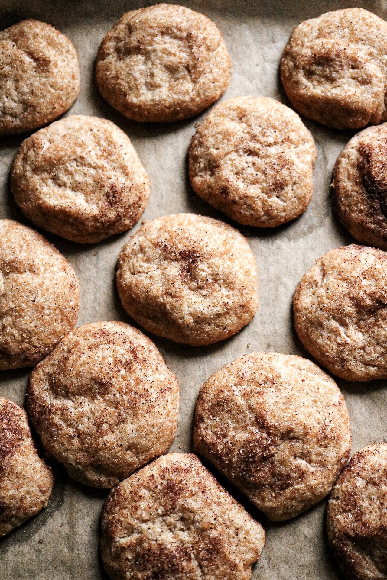 The  key  to amazing snickerdoodles is to roll them in cinnamon sugar - it's just science y'all.