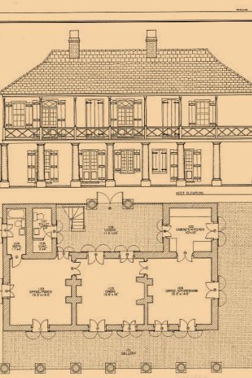 View Historic American Buildings Survey Drawings (HABS) -