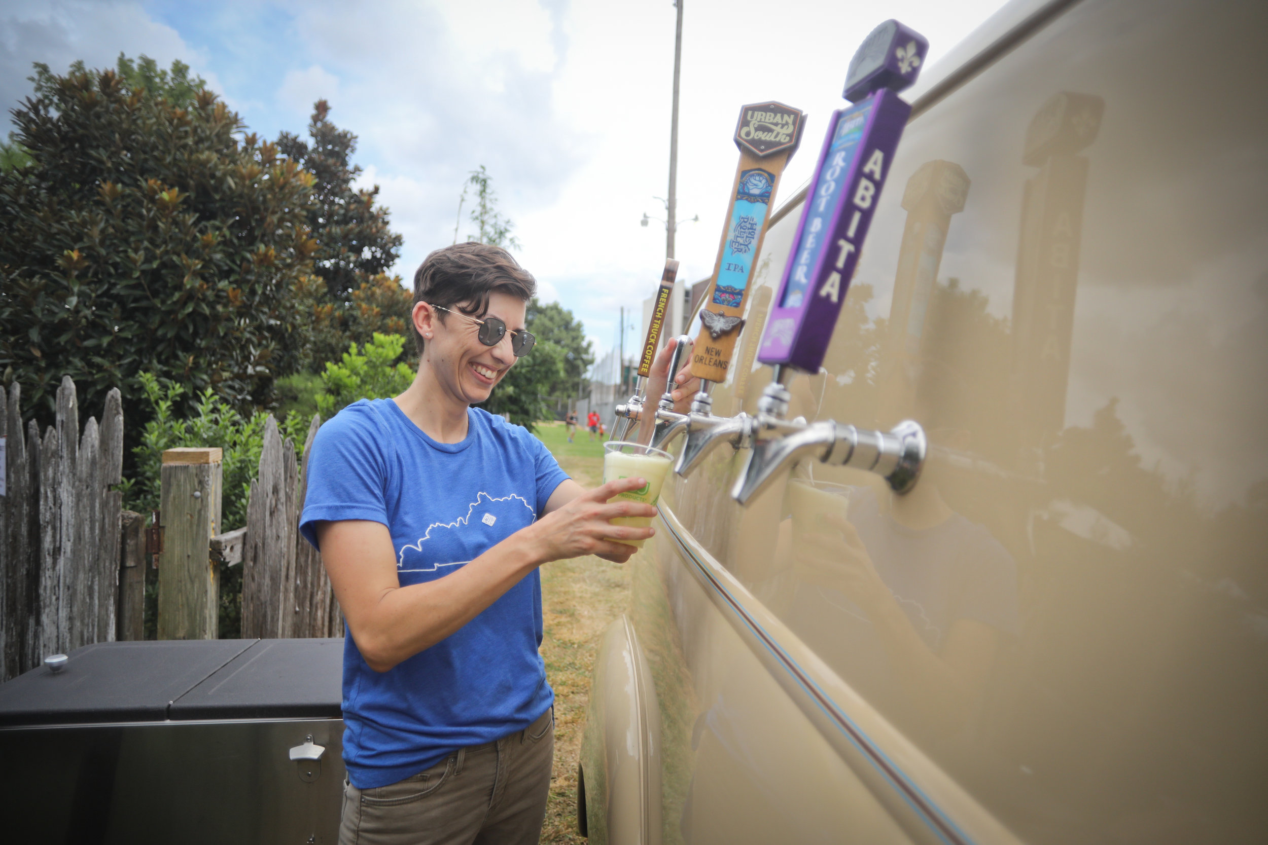 Taptruck NOLA serves drinks