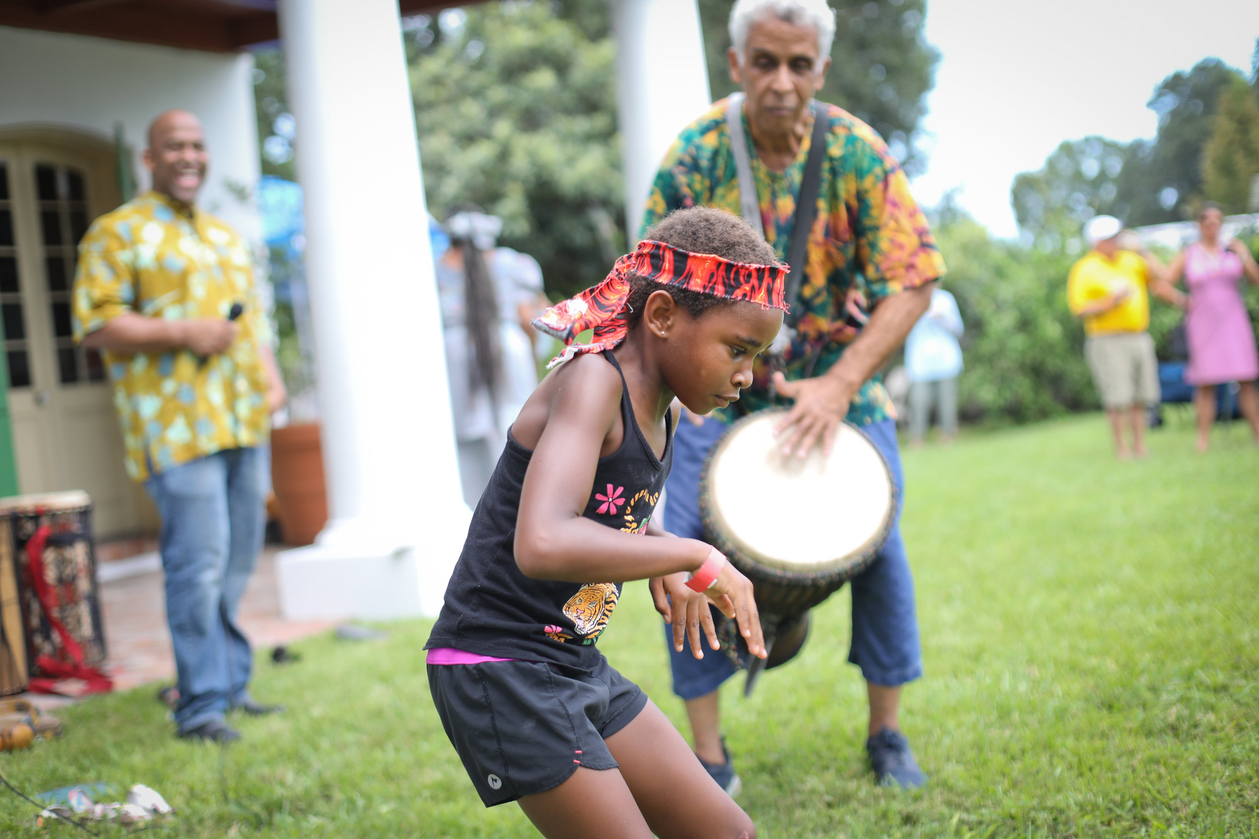 Bamboula drumming and dancing