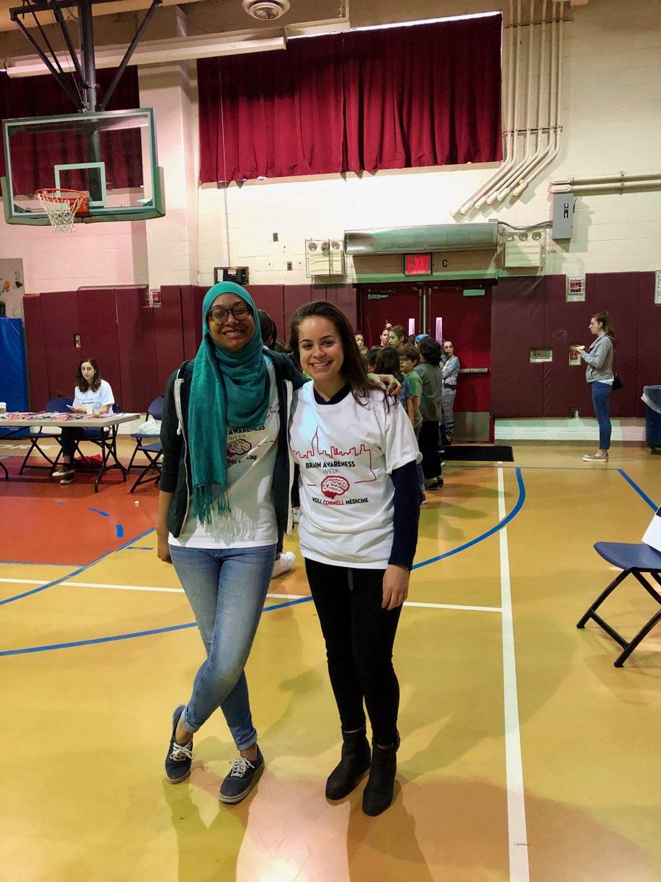 Our grad students teach neuroscience to local high school students @ NYC Brain Awareness Week, Spring 2019