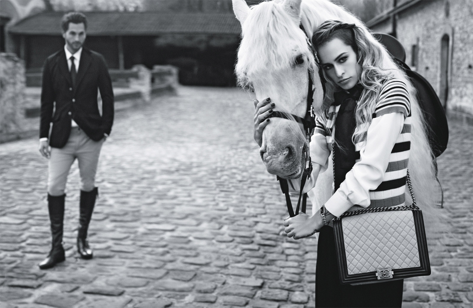 "British model Alice Dellal in Chanel's Spring/Summer 2013 Boy campaign, named after Coco Chanel's beloved Arthur ""Boy"" Capel. Image credit: Karl Lagerfeld, chanel.com, via  wanthaveit.com"