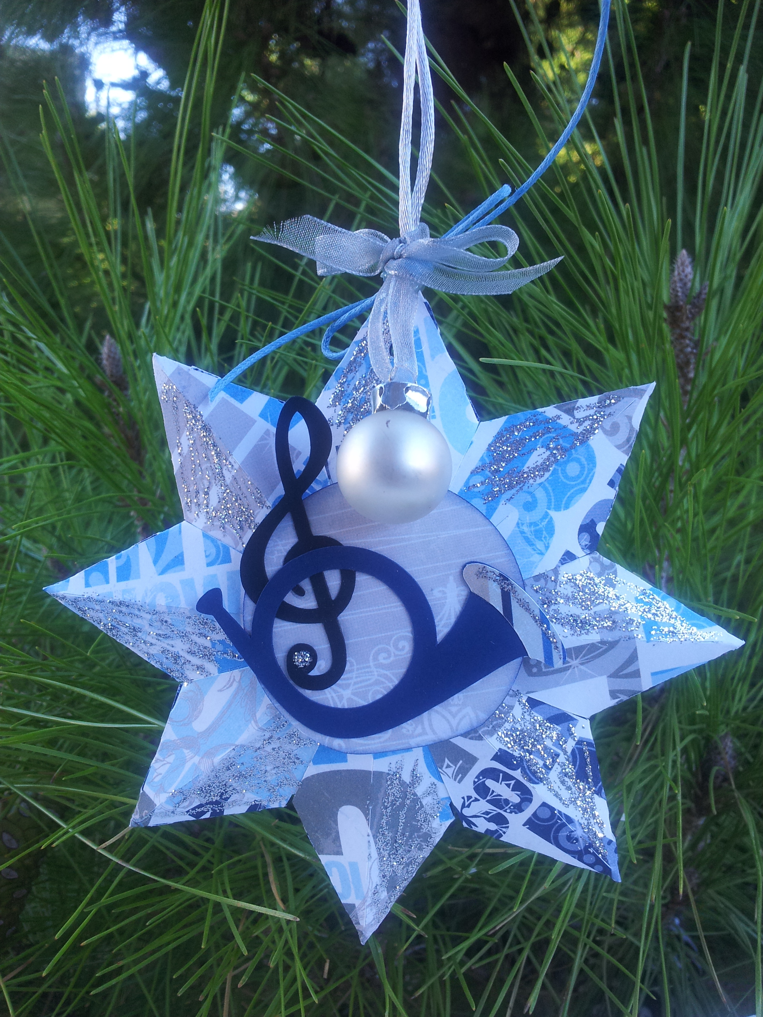 6. Star Ornament (music themed)