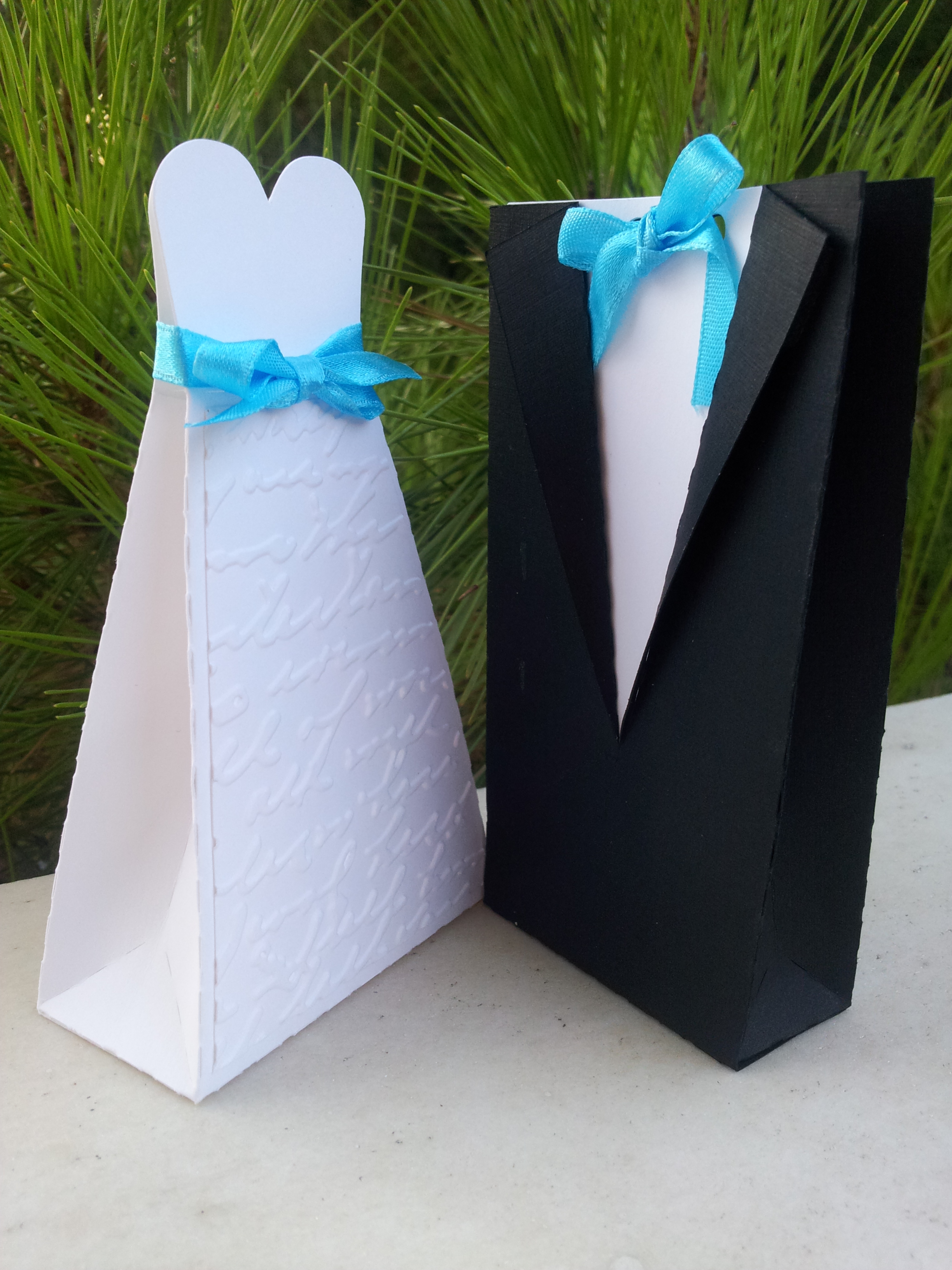 Gown and tux favors
