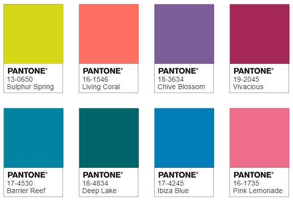 Pantone TRIPPY color combination