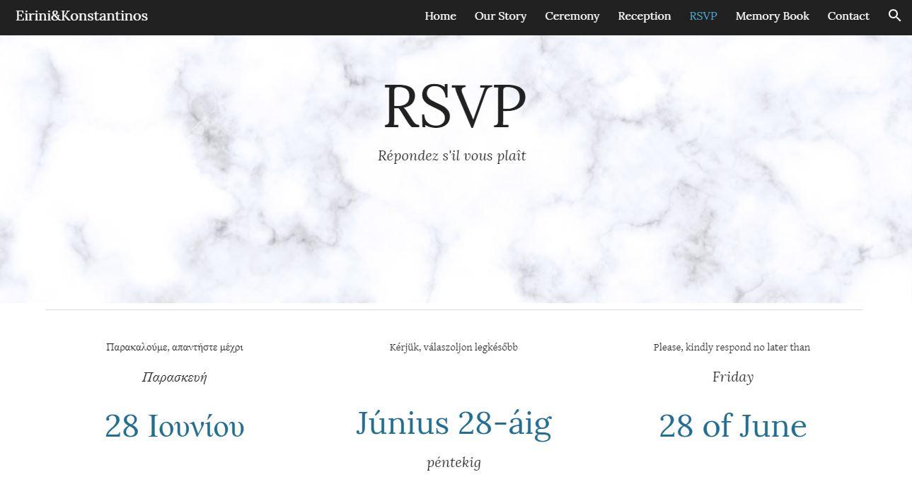 Rsvp page