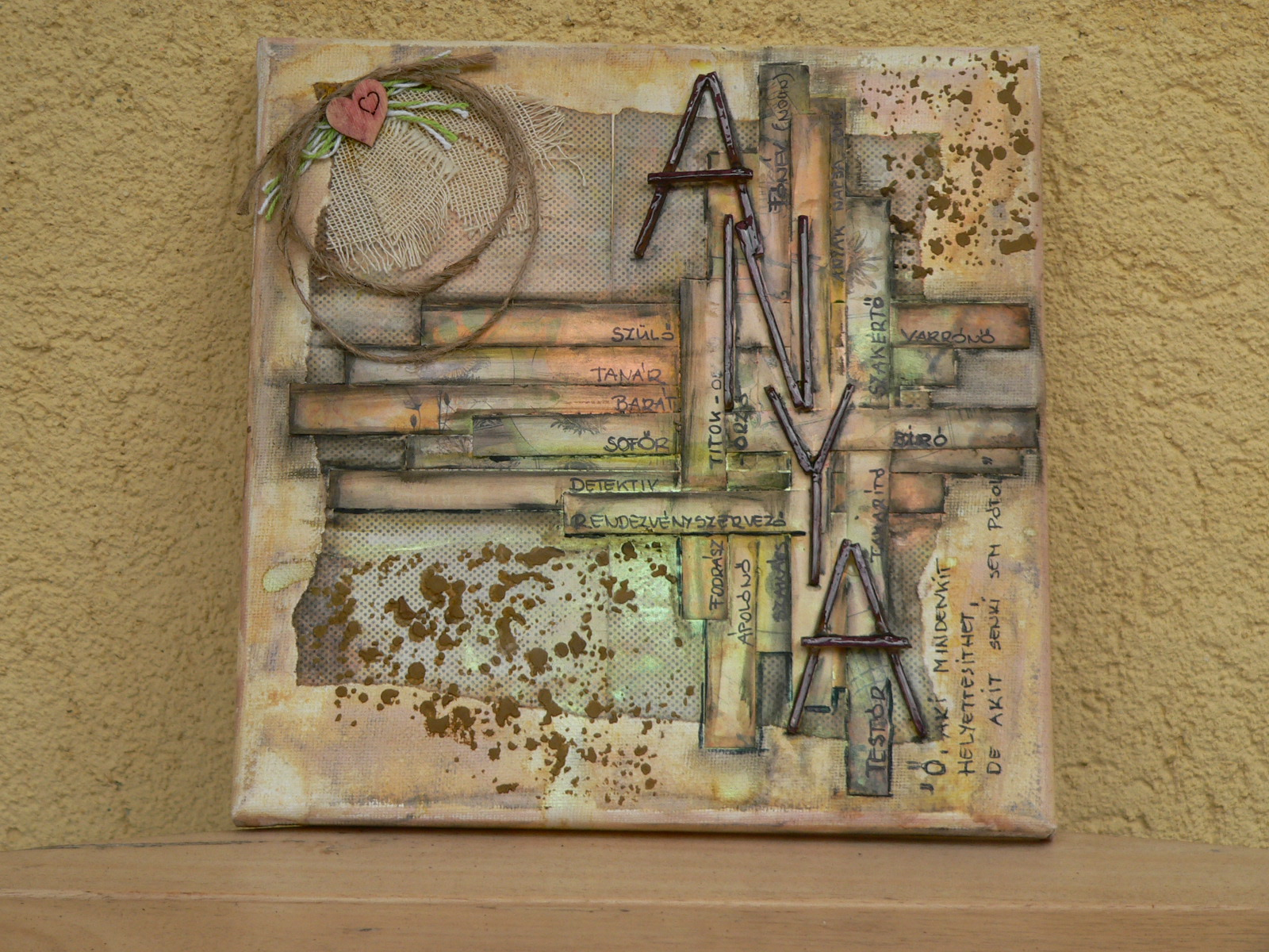 Anyak napja mixed media canvas 2