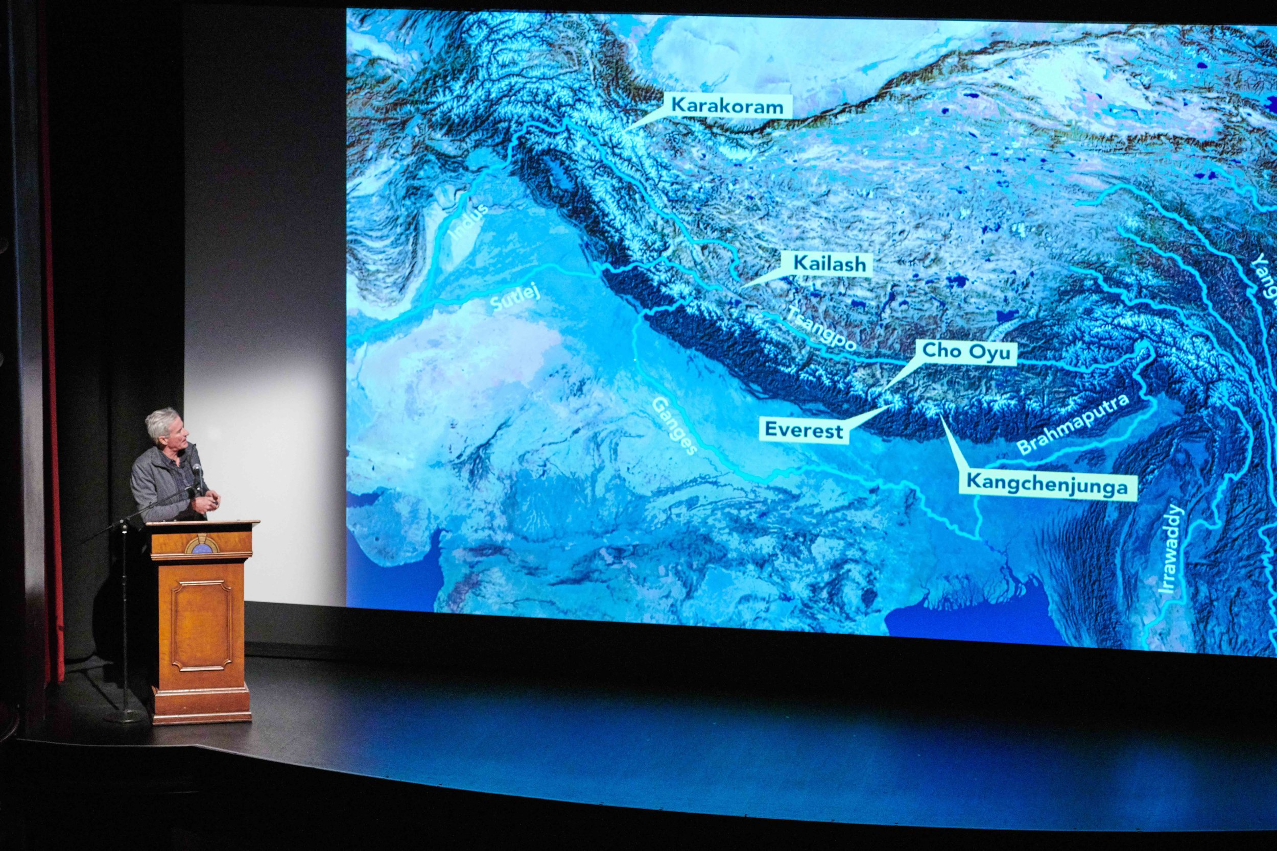 David Breashears describes the major river systems in India.