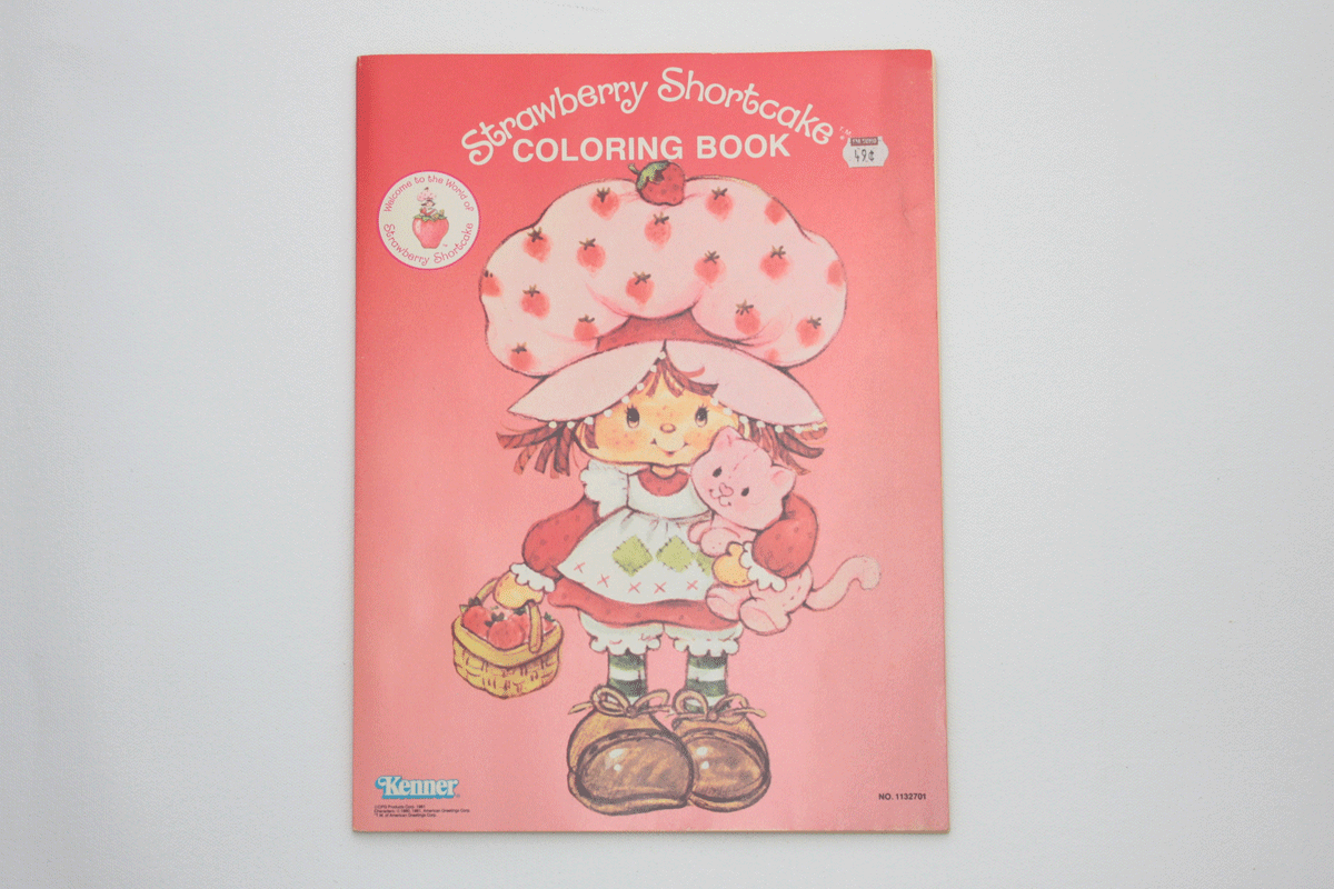 Vintage Strawberry Shortcake Coloring Book Unused 1981 SSC Color Pages  Never Used — High Country Vintage