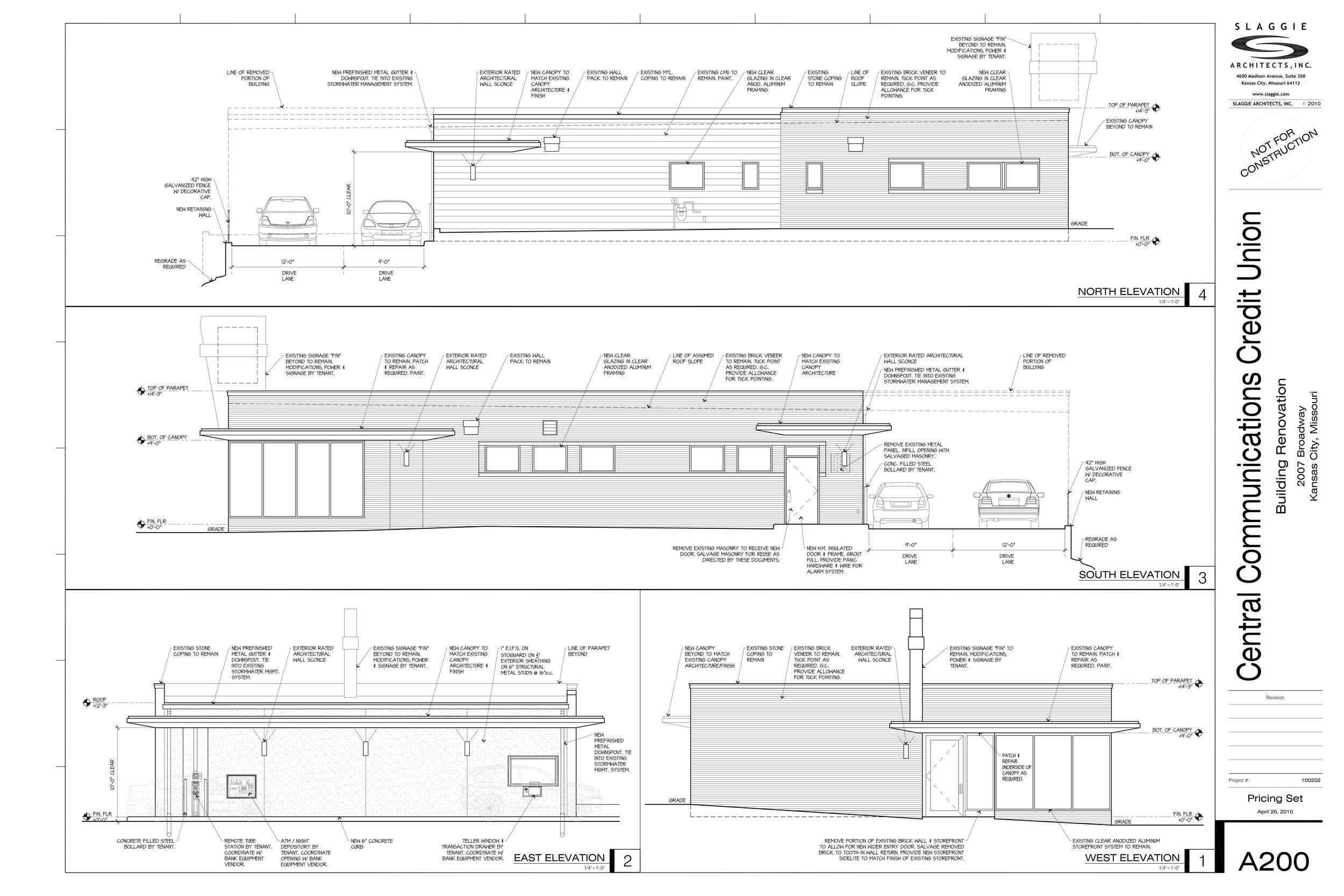 2007 Broadway -  Elevation plan