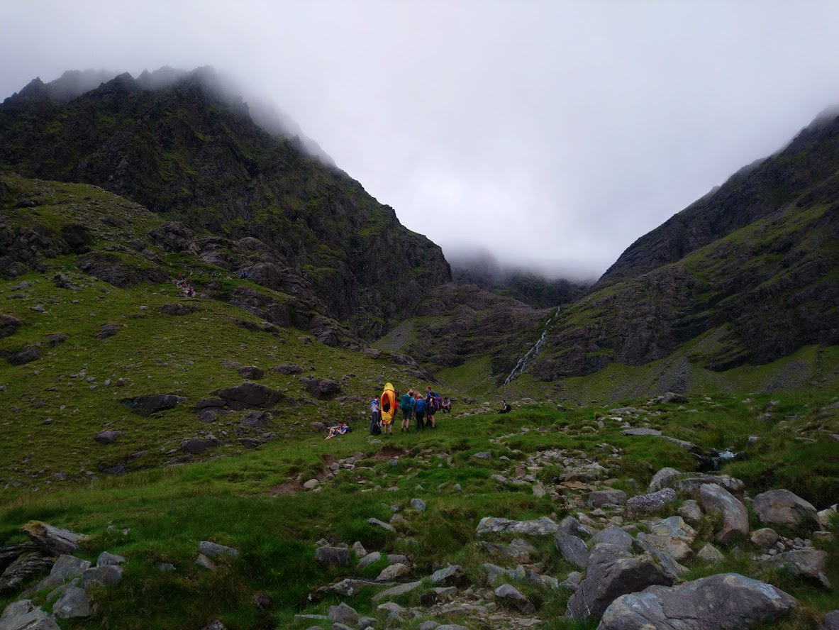 A Kayak being taken for a walk at the Eagle's Nest on Carrauntoohill. (Photo: Rónán)