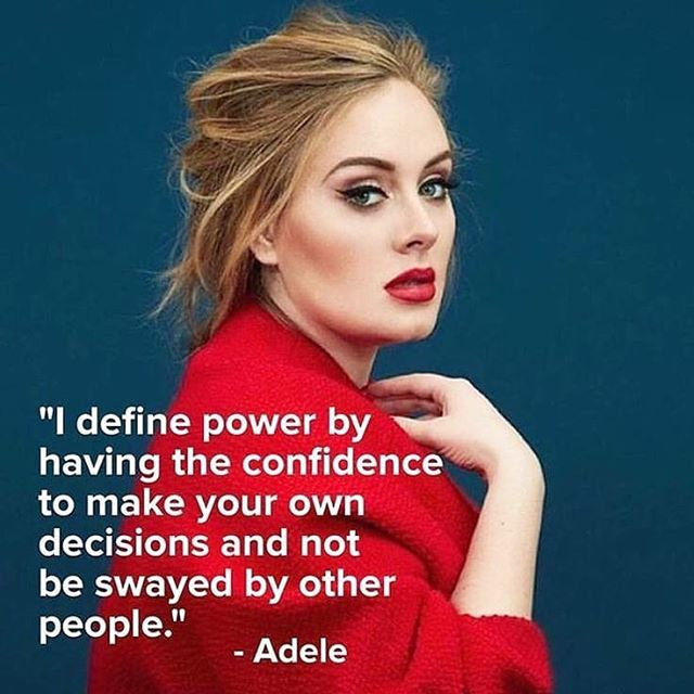 Self-confidence can mean different things to different people. I really love this perspective from @adele ❤️ What does confidence mean to you?