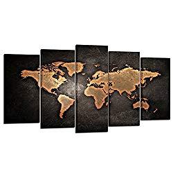 world map canvas-amazon 89.98