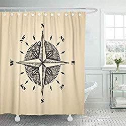 Compass shower curtain- amazon 21.39