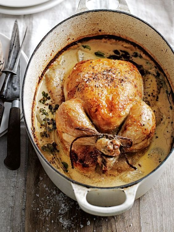 Milk Braised Dijon Chicken