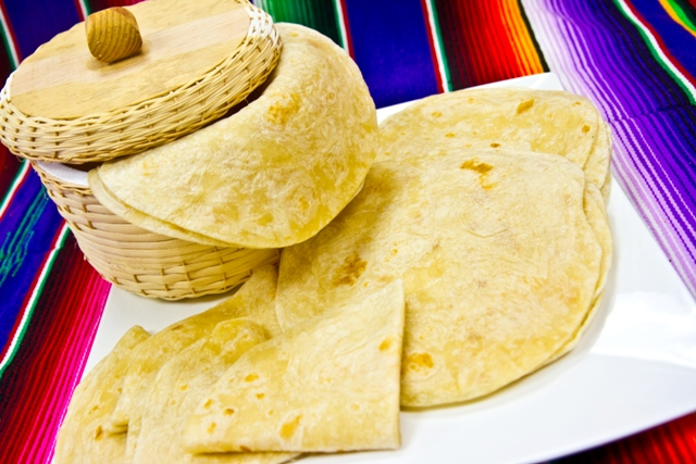 Flour tortillas are made fresh, in-store, every single day. We're famous for them! -