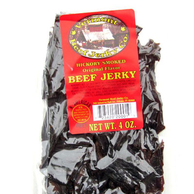 Vermont Beef Jerky Company  348 Industrial Park Lane, Orleans, 05860 (802) 754-9412  Open Mon-Fri, 7am-3:30pm.   In business for over a quarter century, our jerky is shipped all over the country. We make and sell a variety of flavors from sweet to spicy. Come visit the plant and take home some Vermont Beef Jerky.
