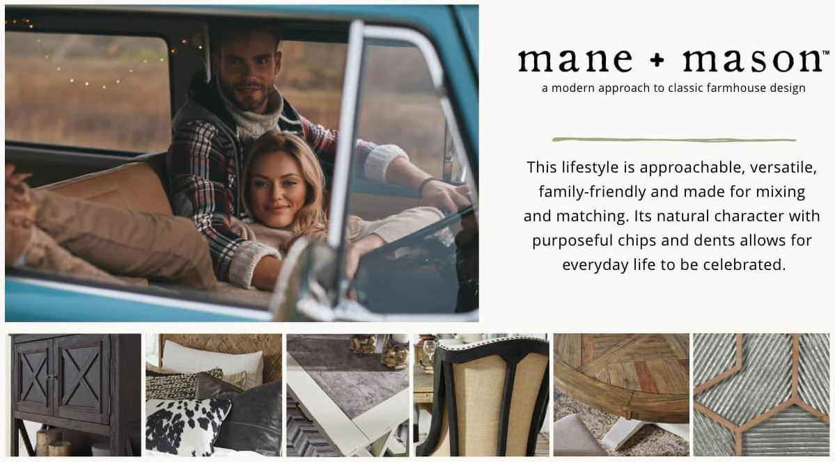 Check out the latest new lifestyle from Ashleyhomestore...mane + mason...modern farmhouse!