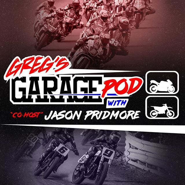 Podcast cover artwork and logo revamp for @gregwhitetv and @pridmore43's new motorcycle racing podcast 💪🏻 • #MotoAesthetic #LogoDesign #GraphicDesign #GregsGarage