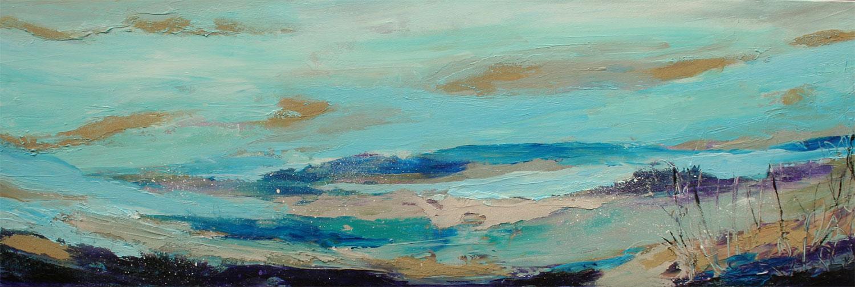 "Shoreline Textures 3  12x36""  Acrylic/Lave/Pumice"