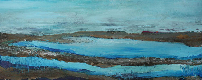 "Shoreline Textures 1  16x40"" Acrylic/Lava/Pumice"