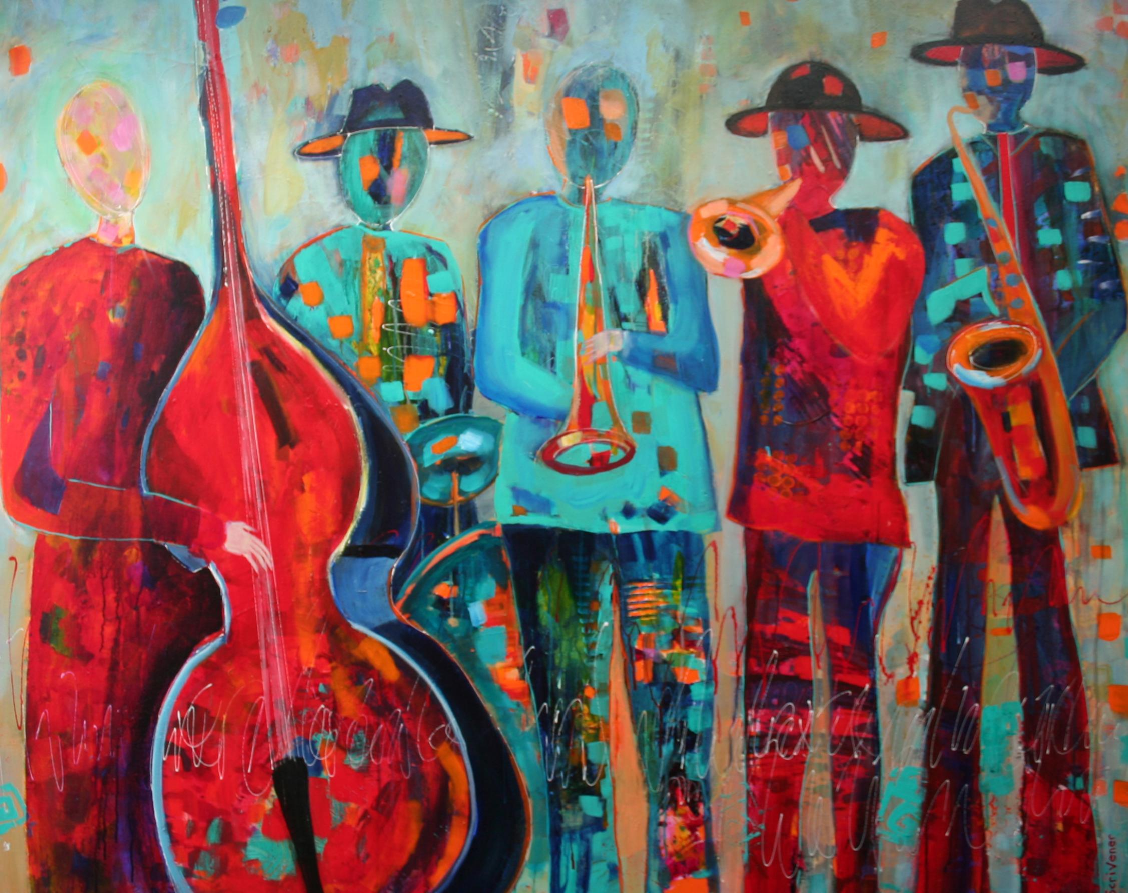 "Jazz Quintet 48x60"" Acrylic"