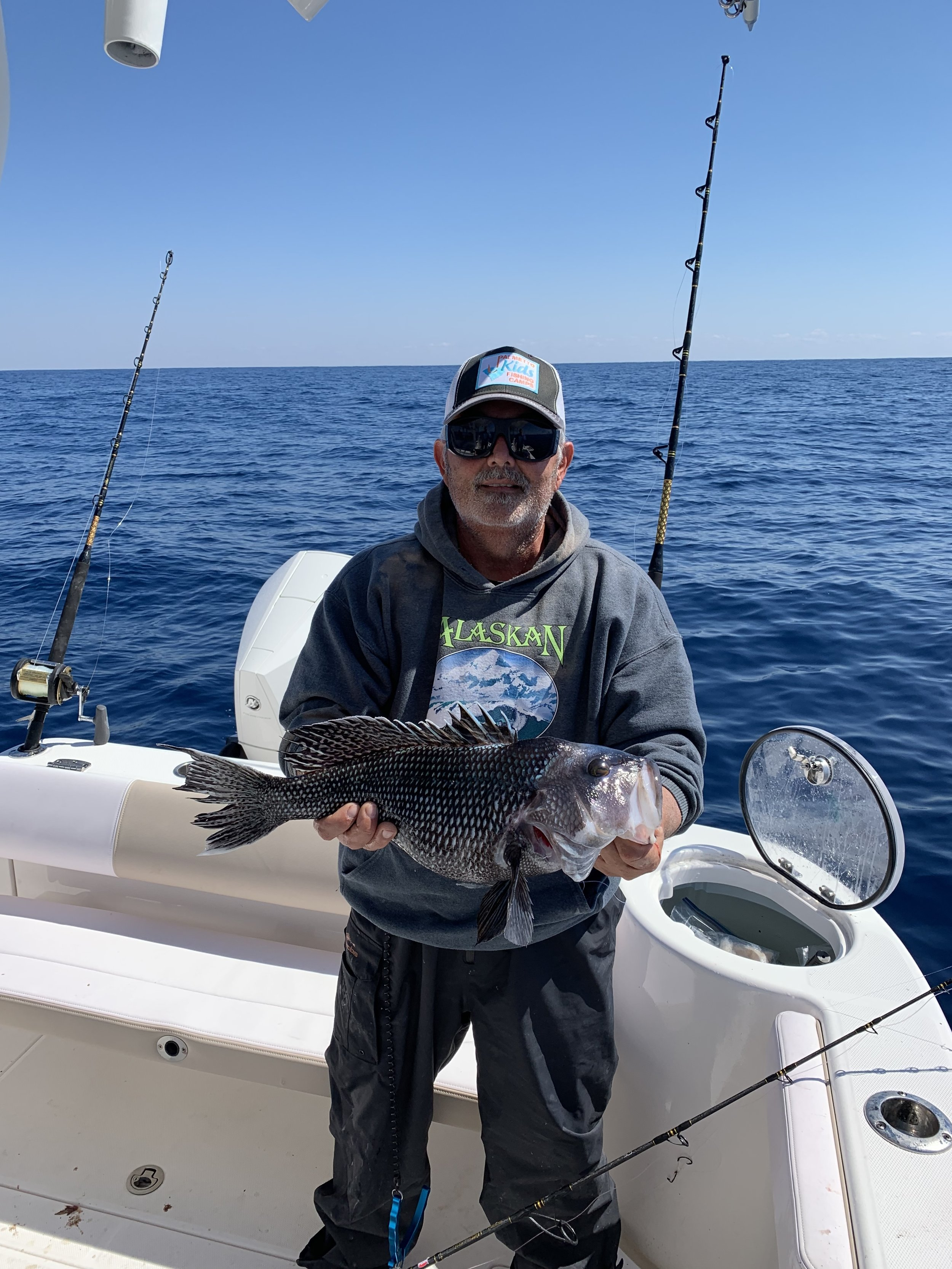 Great fight from this monster Black Sea Bass!