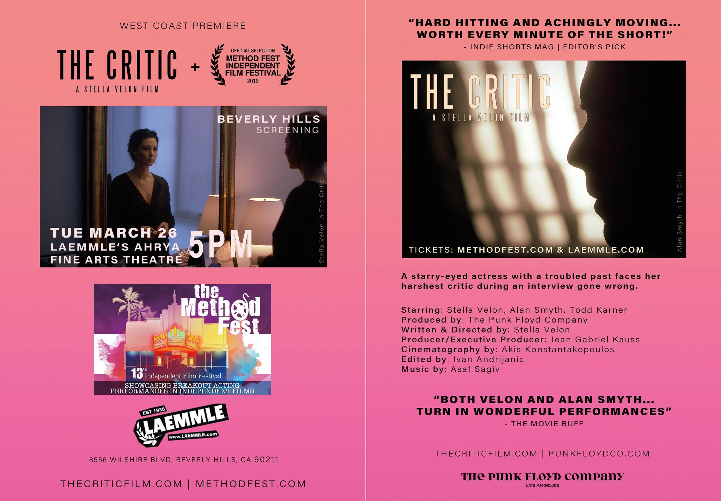 News — THE CRITIC | A Stella Velon Film