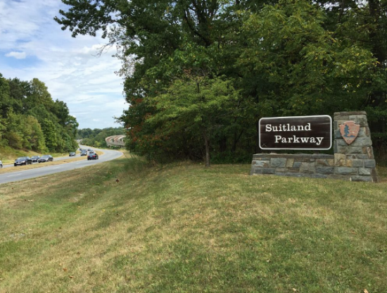 Suitland Parkway, where the body of Carol Spinks was found.