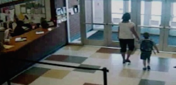 Security footage of Amy and Timmy leaving Greenman Elementary on May 11th (source: Youtube)
