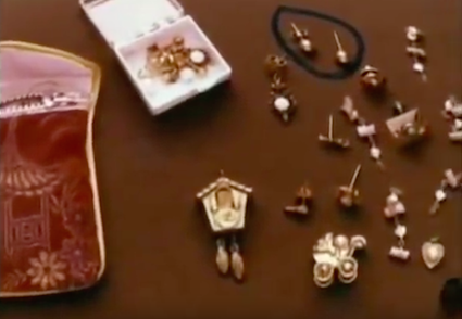 The pouch full of earrings found in the Seattle storage locker (source: The Killing Game Documentary)
