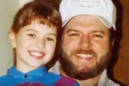 Shanda and her dad, Steve (source: Youtube)