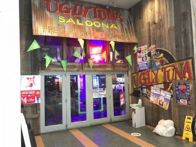 The entrance to the Ugly Tuna Saloona