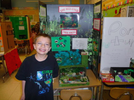 The picture of Kyron with his project taken by Terri at the Skyline Elementary science fair. (Source: The Oregonian)