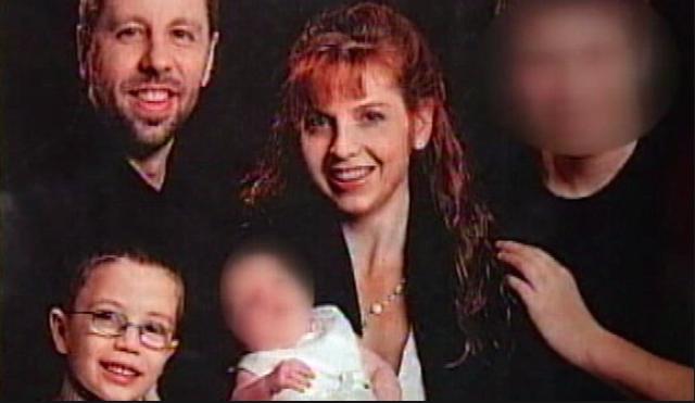 Kaine, Terri and Kyron; James and Kiara blurred out (source: ABC News)