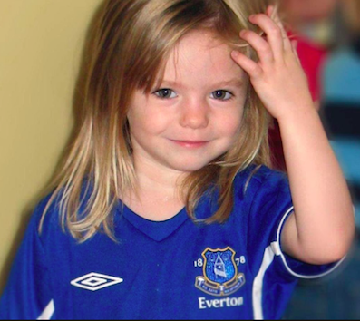 Madeleine McCann (Source: Manchester Evening News)
