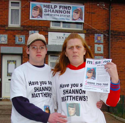 Craig and Karen pose outside the Dewsbury Moor Community Centre (source: The Sun)