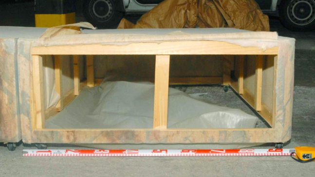 The bed under which Shannon was found at Donovan's flat (source: The Telegraph)