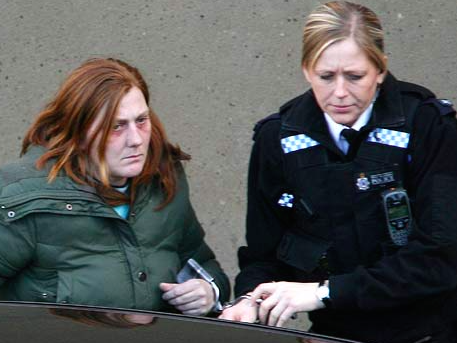 Karen Matthews is arrested (source: The Daily Mail)