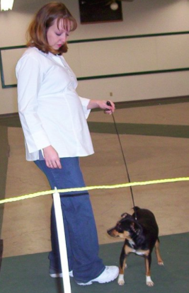 A pregnant Bobbi Jo Stinnett at a dog show (source: Find A Grave)