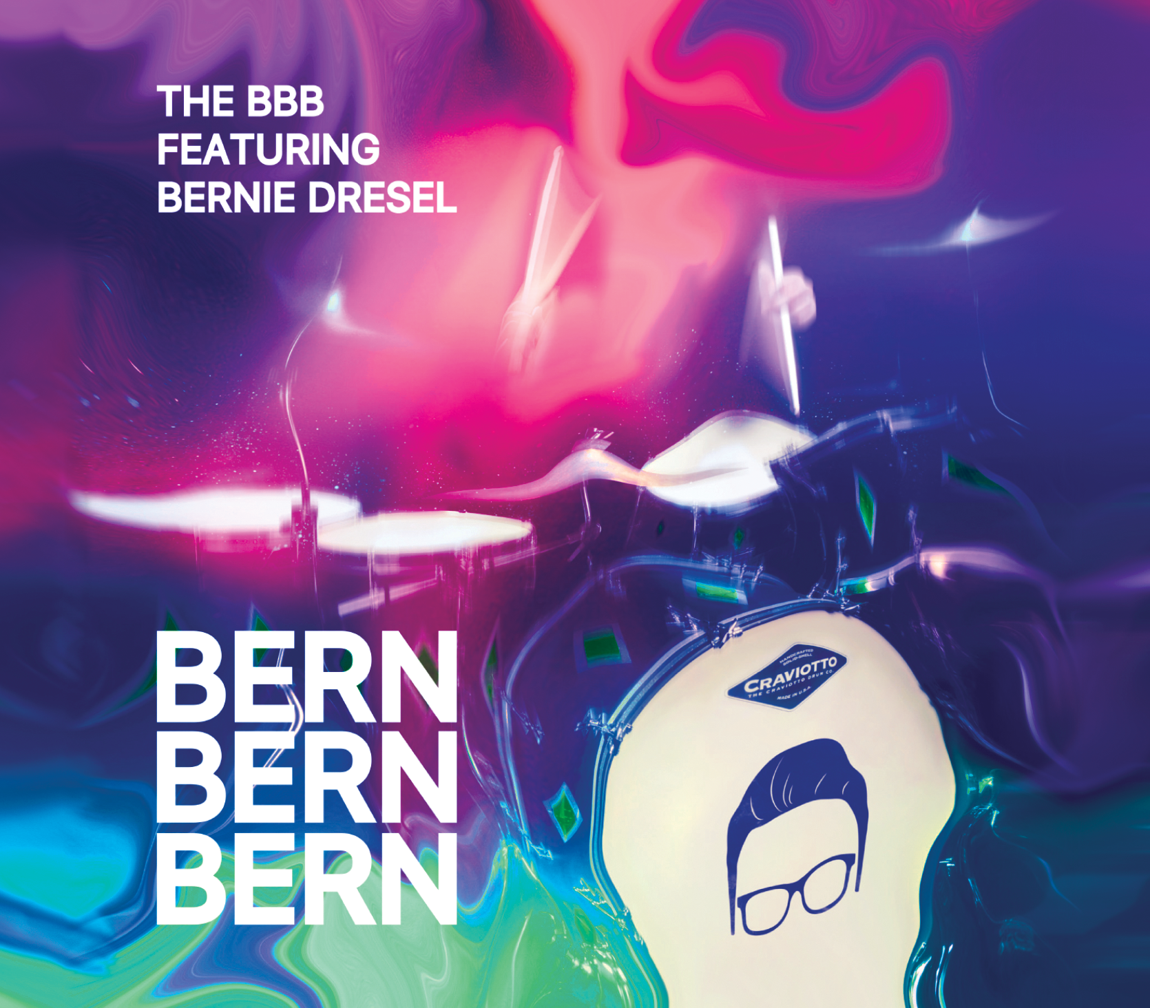 BERN BERN BERN - Established in 2014, The BBB Featuring Bernie Dresel plays monthly at packed jazz clubs and sold out concert venues in Los Angeles. The BBB provides potent testimony to the sheer exhilaration of big band jazz...a combination of intense swing and fiery soloing, as well as tight ensemble playing, powered by Bernie Dresel's extraordinary drumming talents.