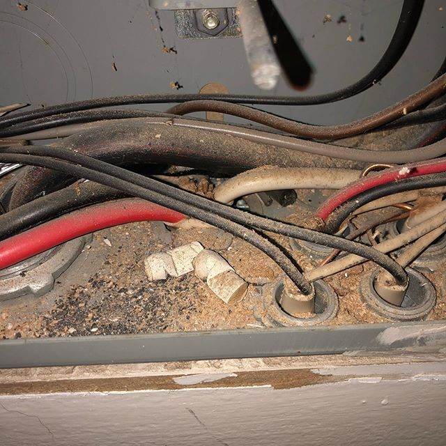 This drives me up a wall....if they care that little about cleanliness, I wonder how good  of an electrician they really are?? The service panel is not an ashtray.... #atlantahomeinspector #atlantahomeinspection #gross #meritcigarettes