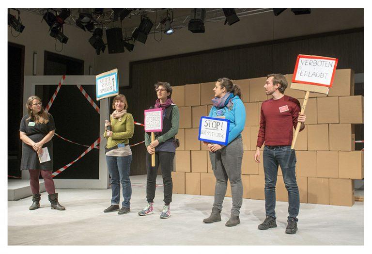 """Direction d'ateliers - GRIPS Theater - Studiobühne im Podewil""""Platz für Spielraum!"""" - Oktober 2018"""
